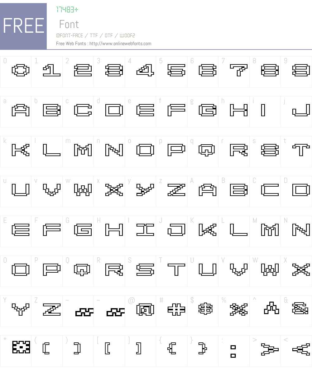 LomoWallOutlineLTW01-100 Font Screenshots