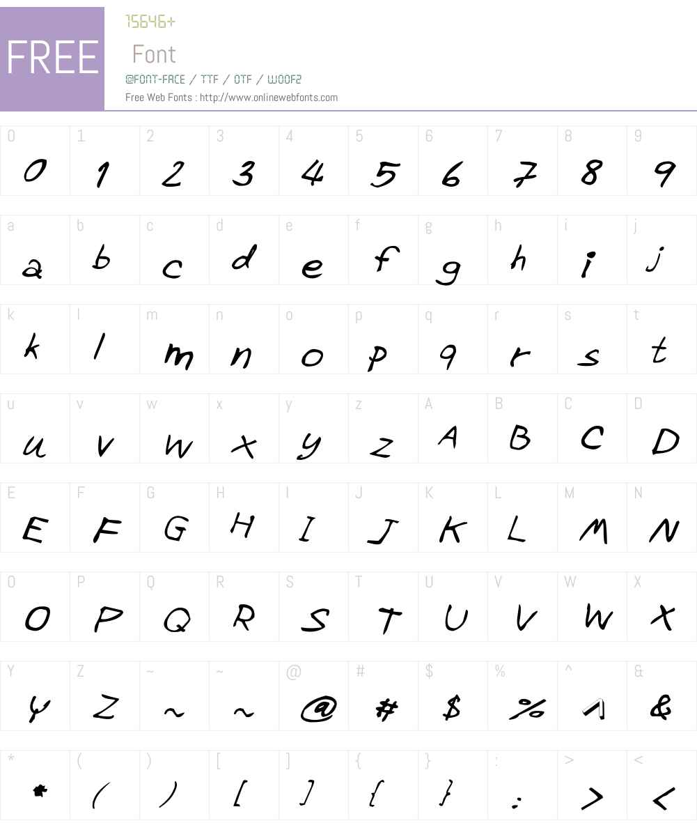 CRU-Pharit-Hand-WrittenItalic Font Screenshots