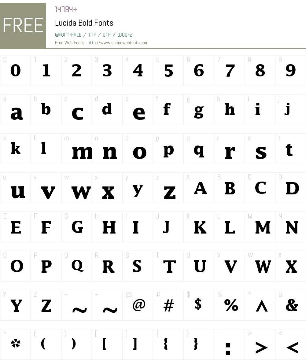 Lucida Font Screenshots