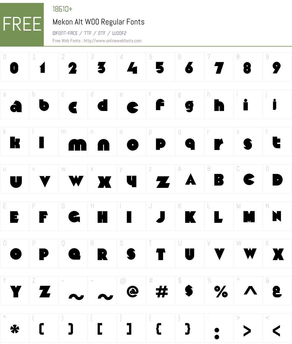 MekonAltW00-Regular Font Screenshots