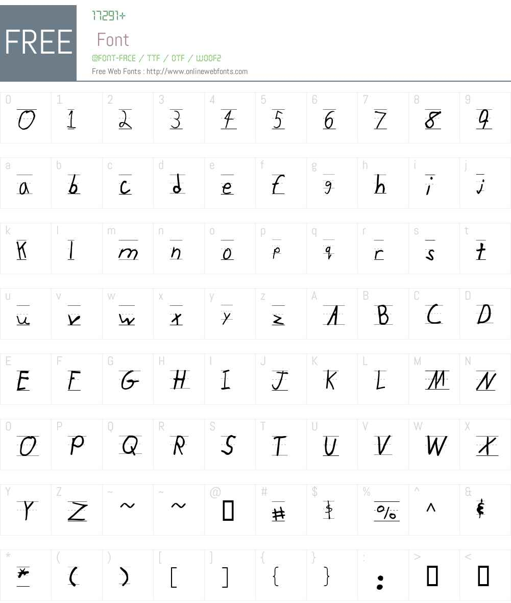 KidTYPERuled Font Screenshots