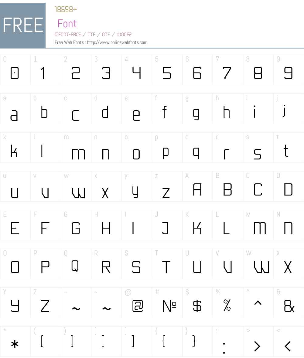 EgoisticaW00-Thin Font Screenshots