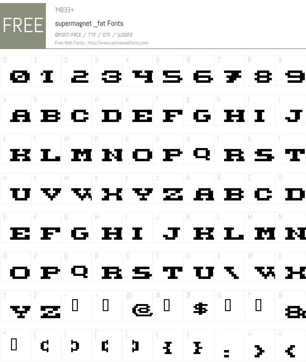 supermagnet Font Screenshots