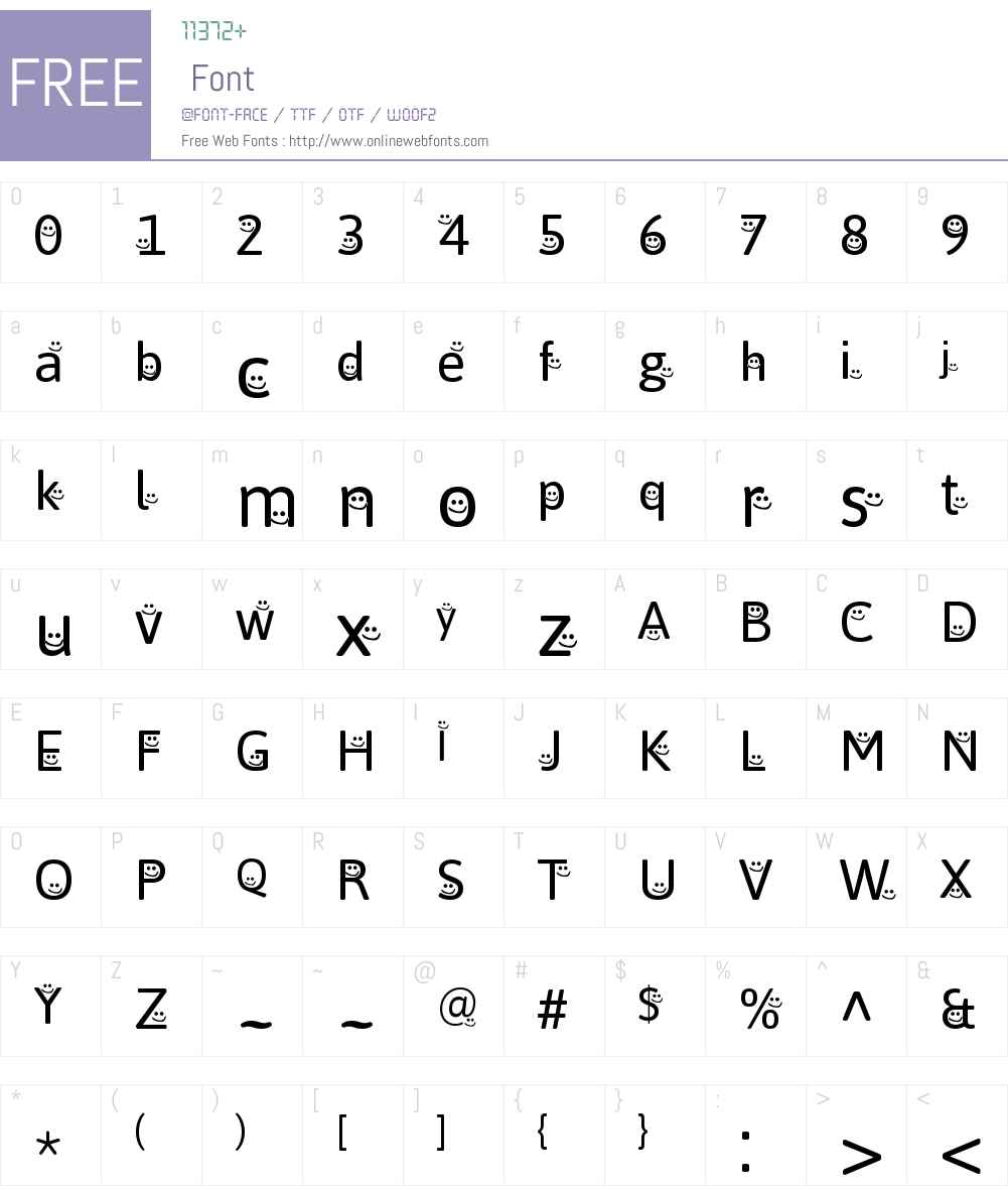 WLM Smileyface Font Screenshots