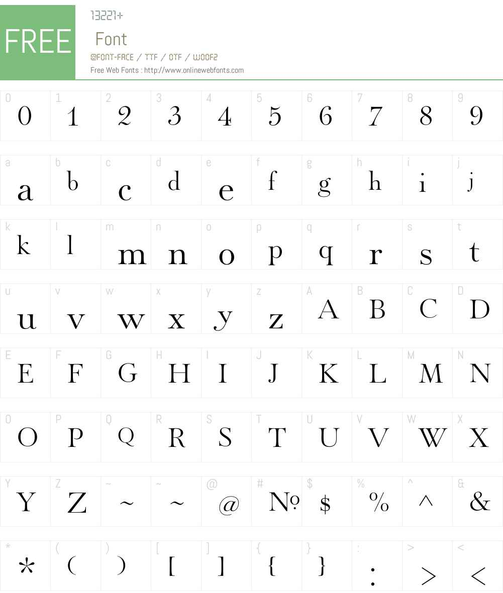 PaganiniW00-Light Font Screenshots