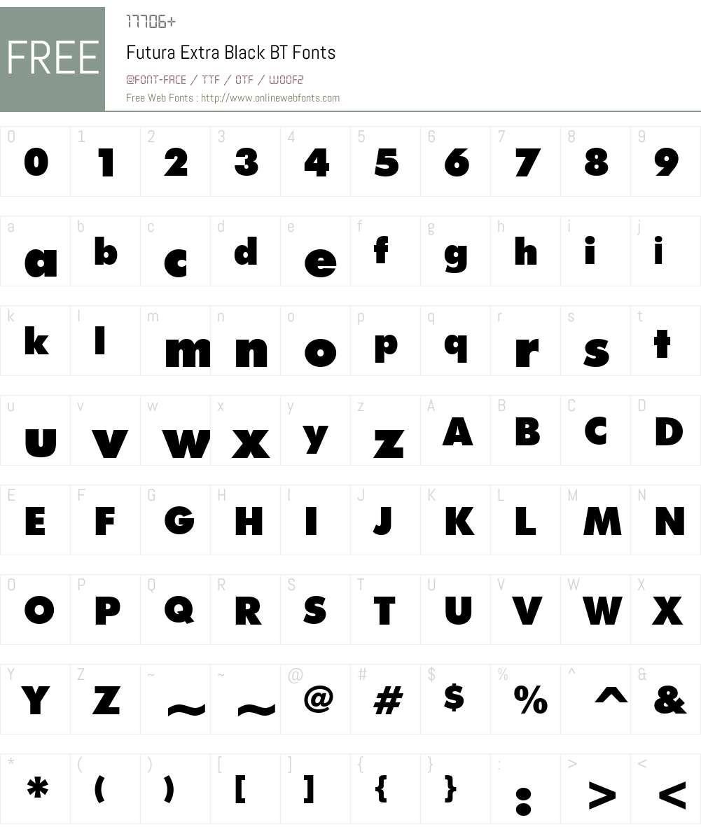 Futura Font Screenshots