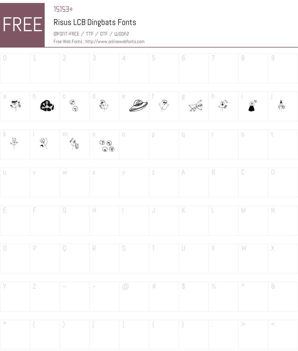 Risus LCB Dingbats Font Screenshots