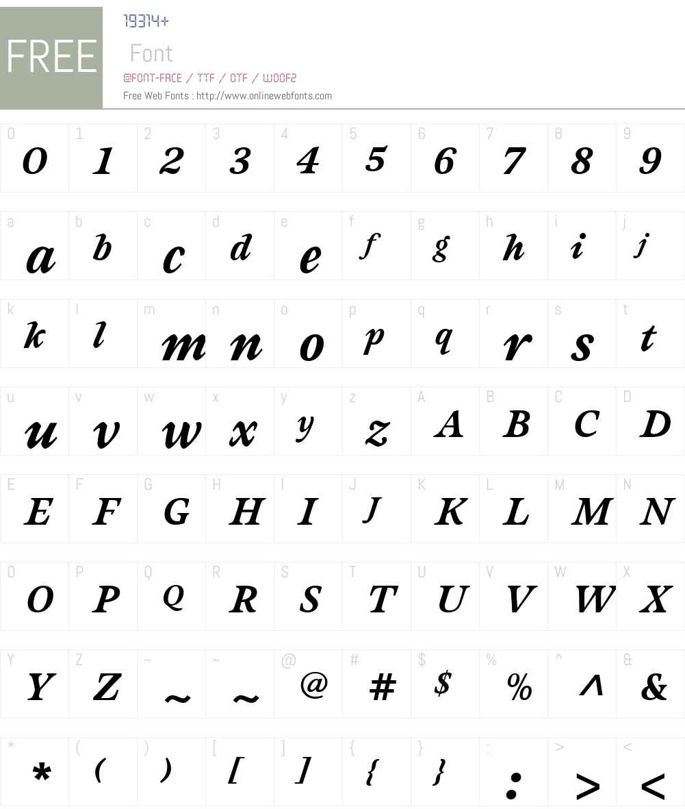 Sovereign Font Screenshots