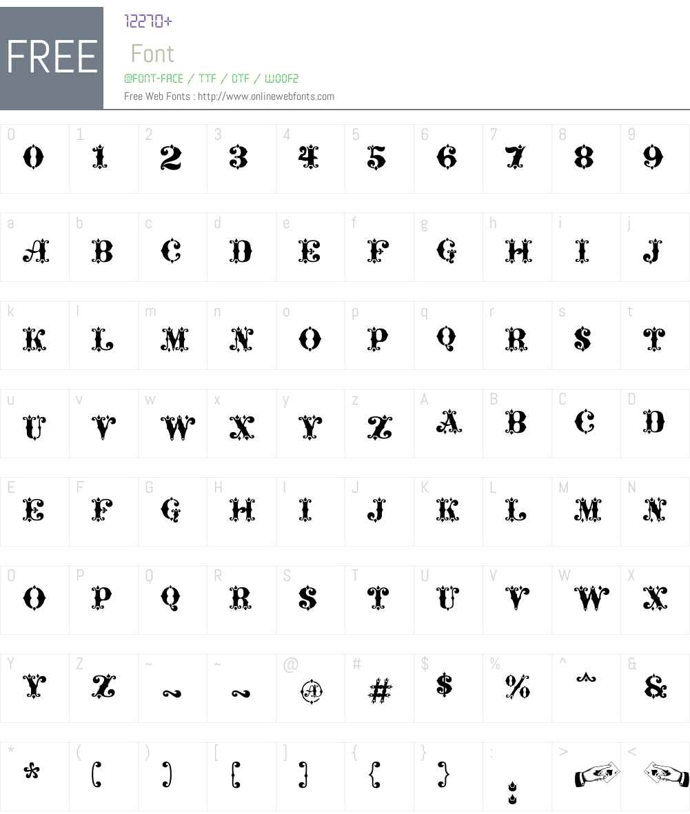 Maverick's Luck Font Screenshots