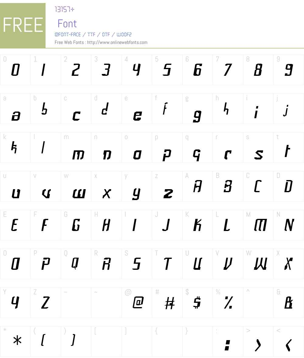 Frak Font Screenshots