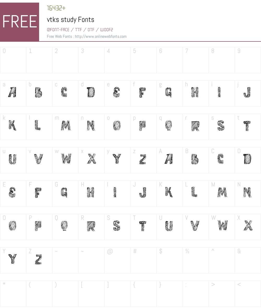 vtks study Font Screenshots
