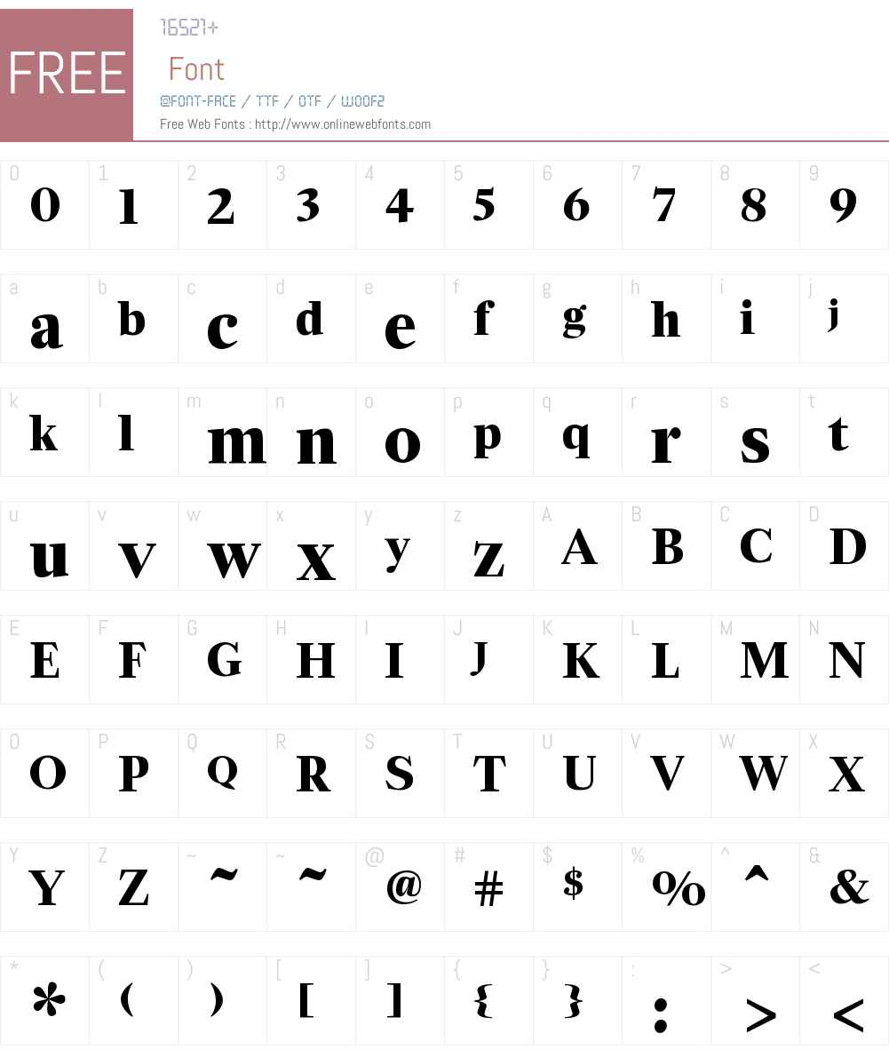 ZocaloDisplay Bold Font Screenshots