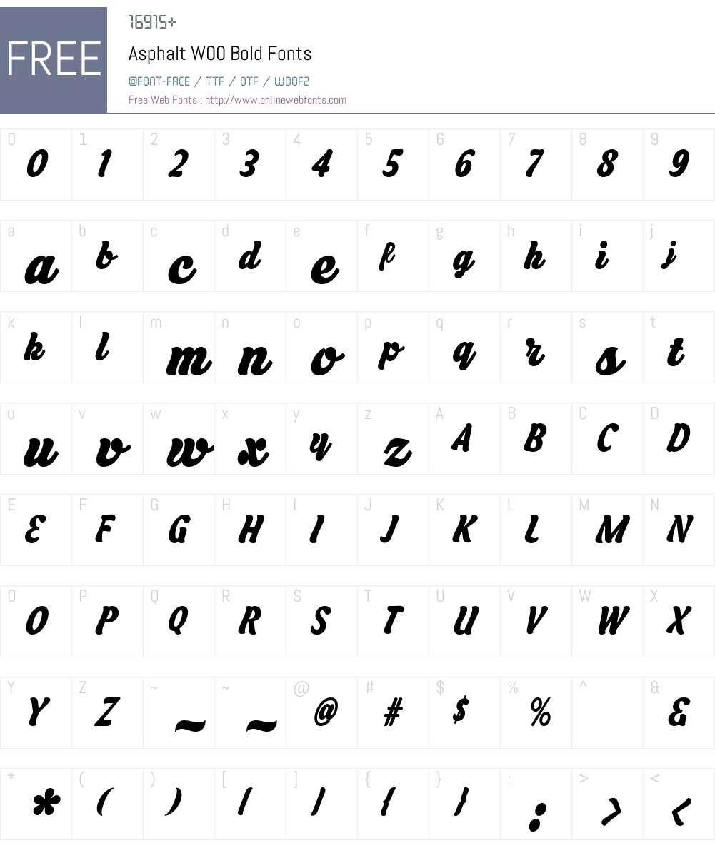 Asphalt Font Screenshots