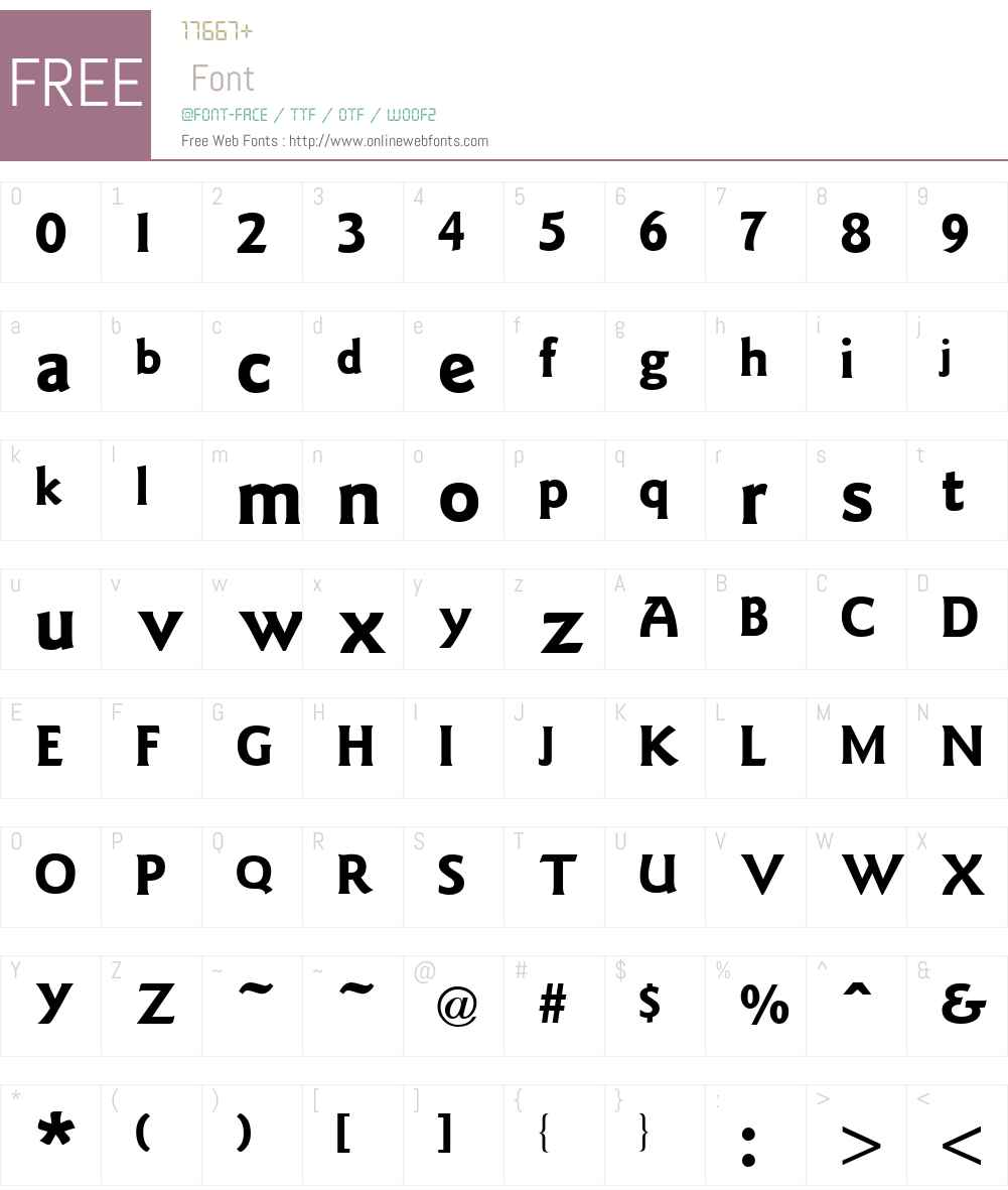 Goudy Font Screenshots