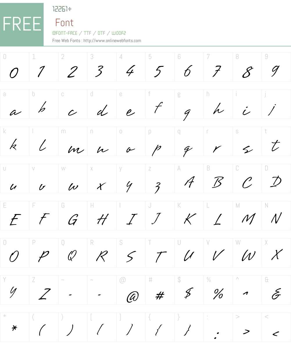Brisa Font Screenshots