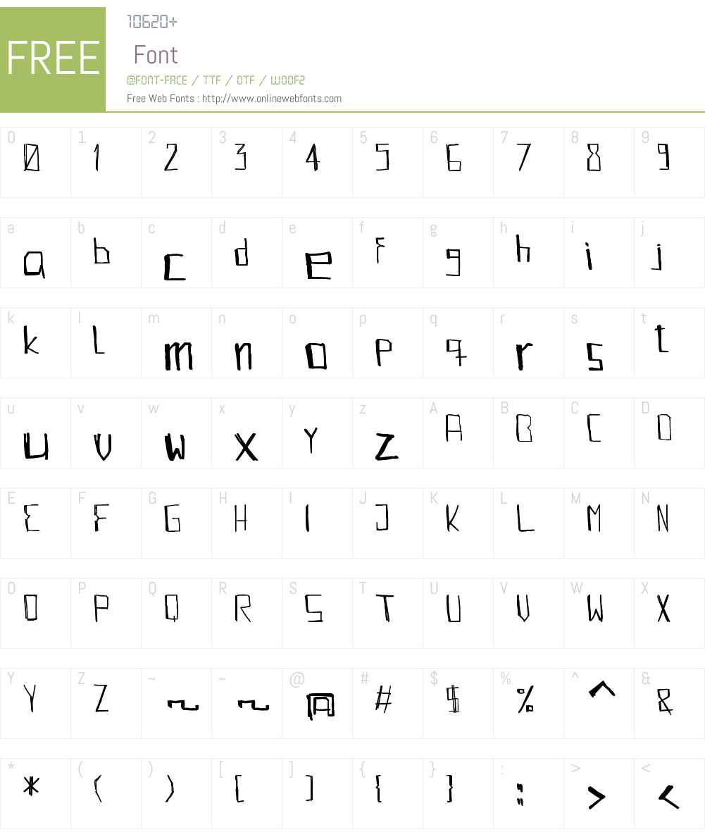 KABBE Font Screenshots