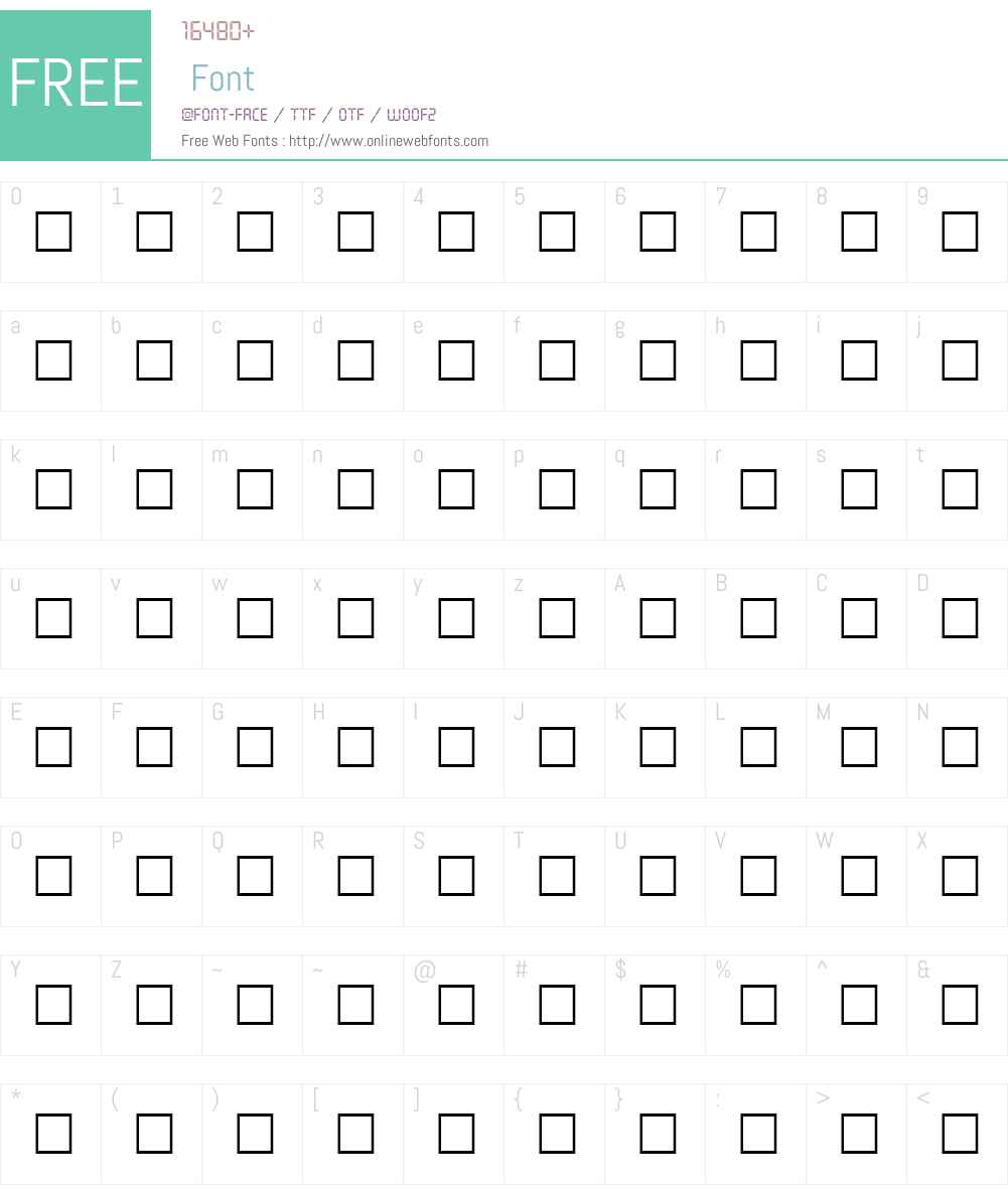 SCADS Font Screenshots