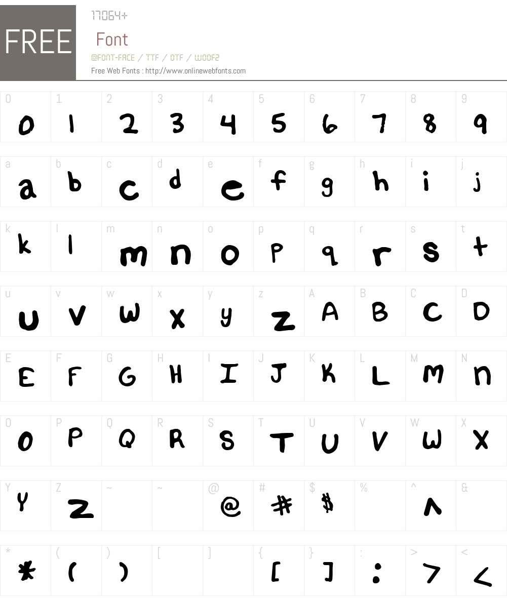 Untitled Font Screenshots