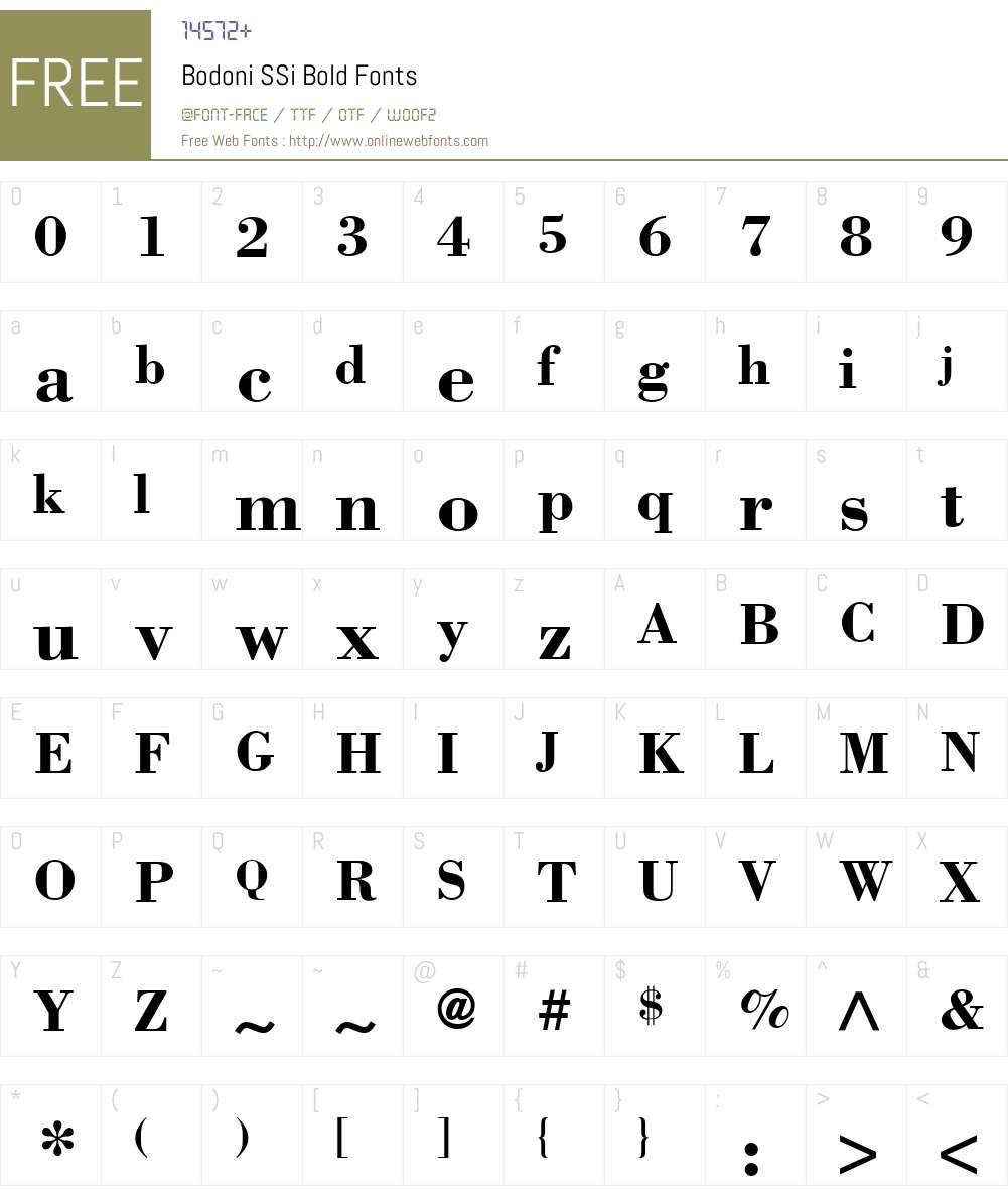 Bodoni SSi Font Screenshots