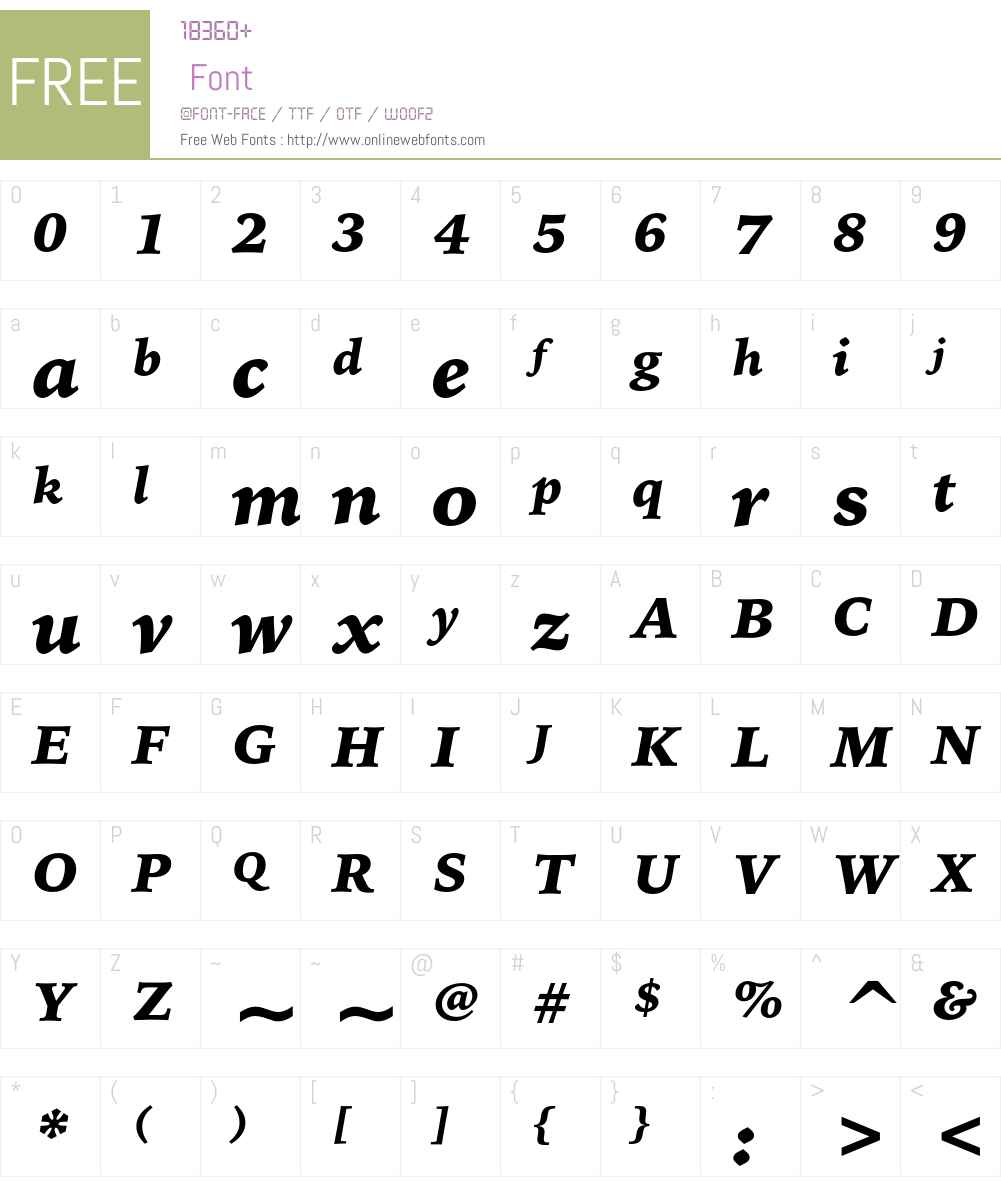 Bitstream Iowan Old Style Font Screenshots