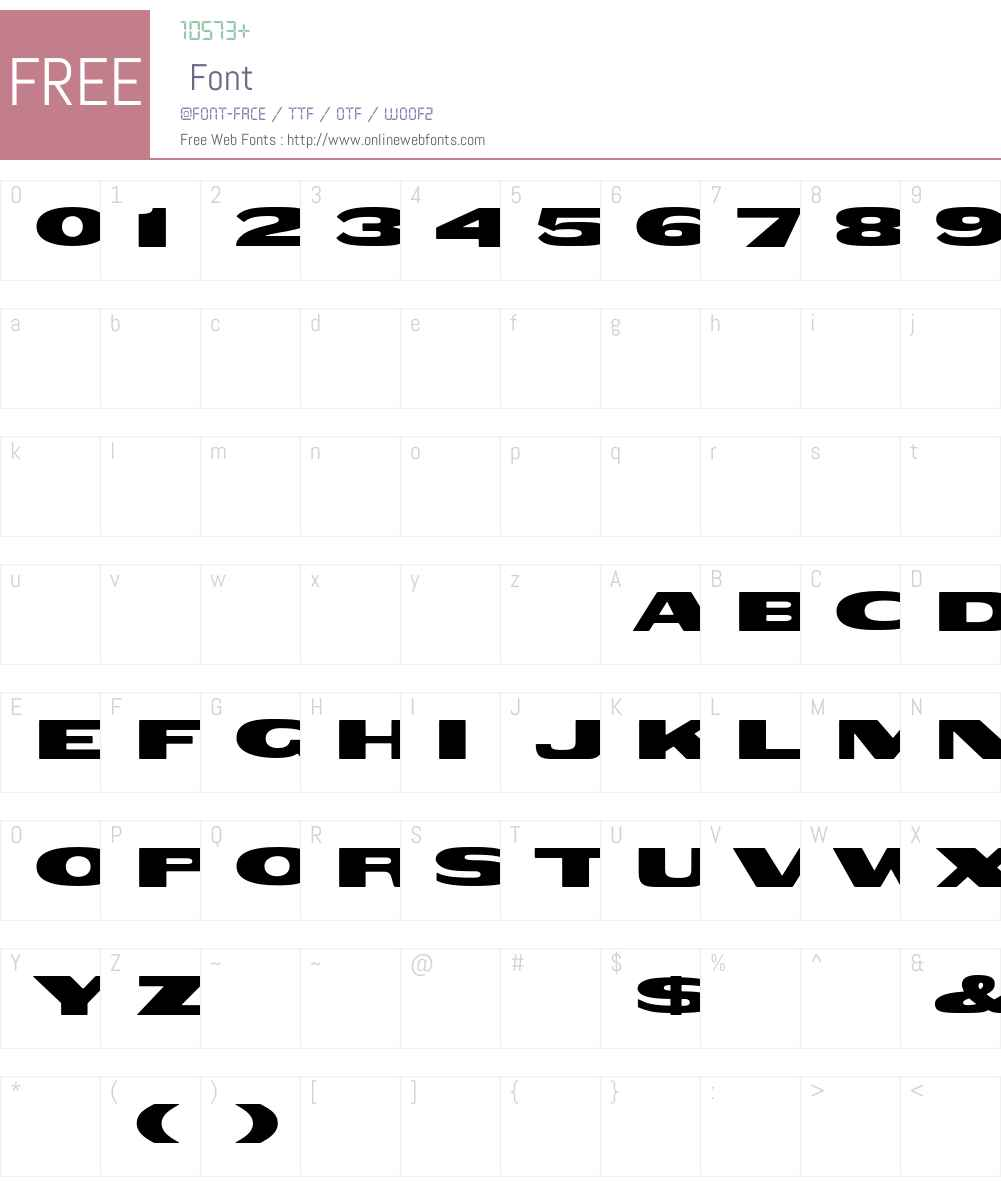 Woodtype-HTF-GothicExtended Font Screenshots