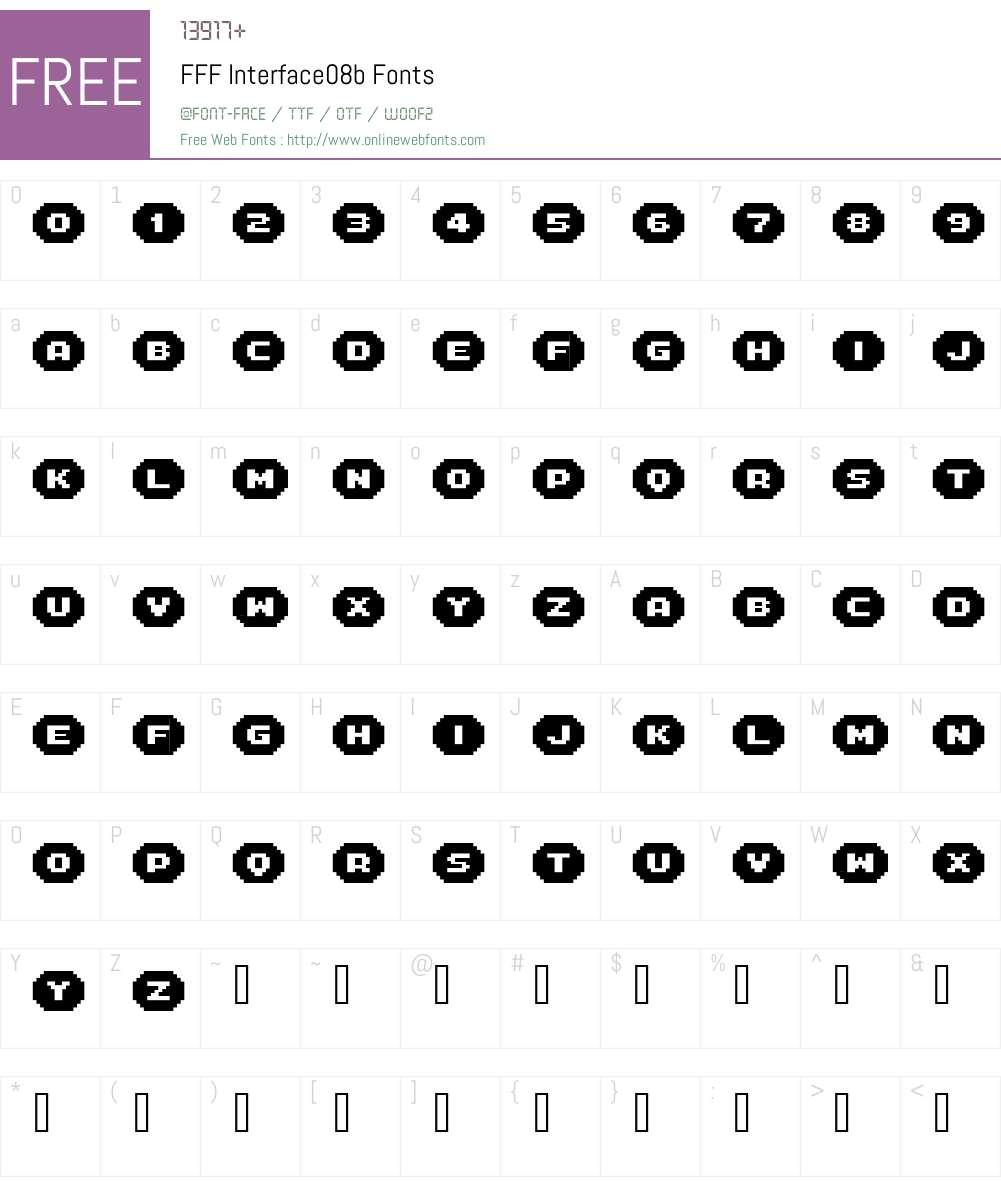 FFF Interface08b Font Screenshots