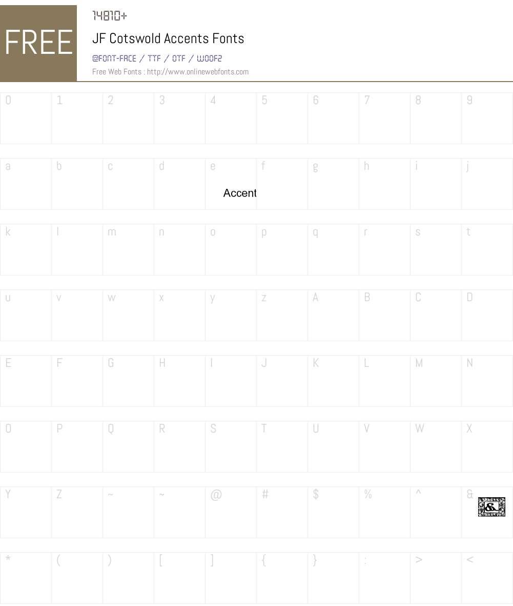 JF Cotswold Accents Font Screenshots