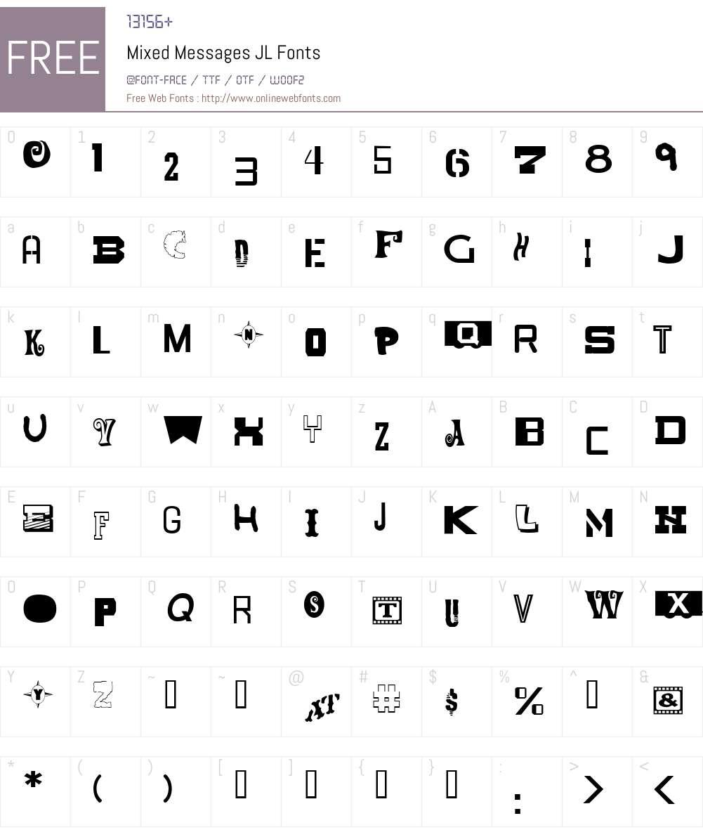Mixed Messages JL Font Screenshots