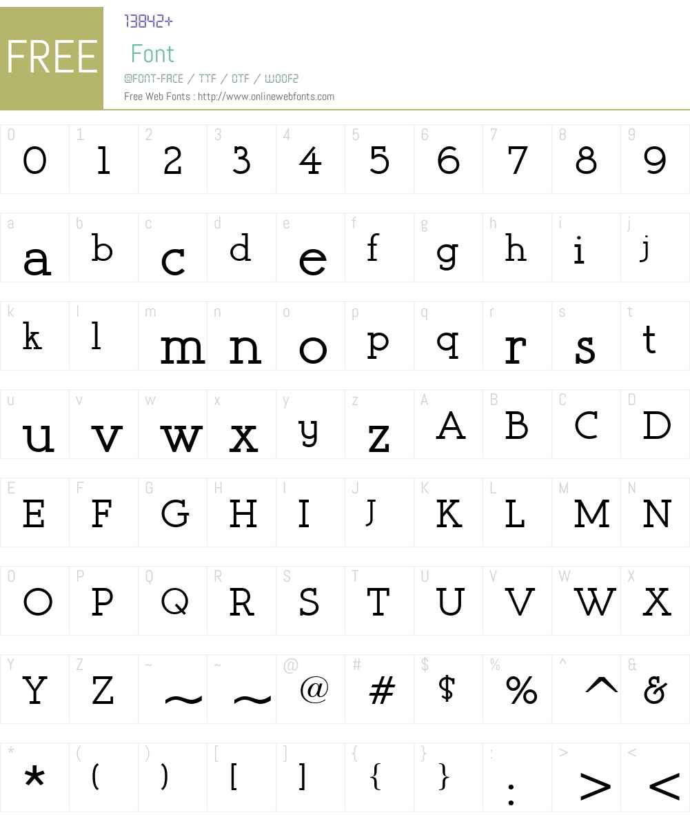 Register Serif BTN Font Screenshots