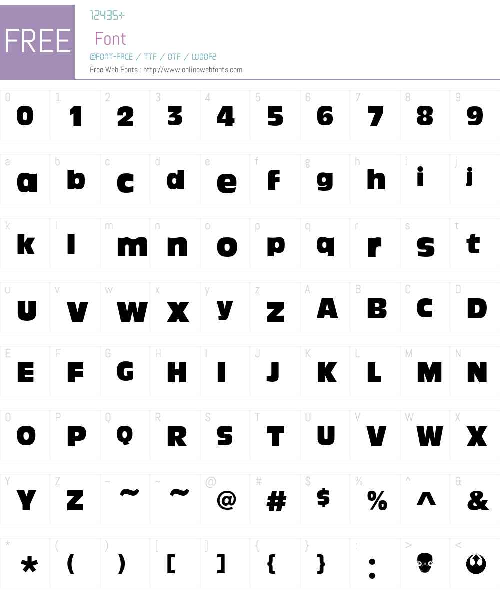 Ackbar Font Screenshots