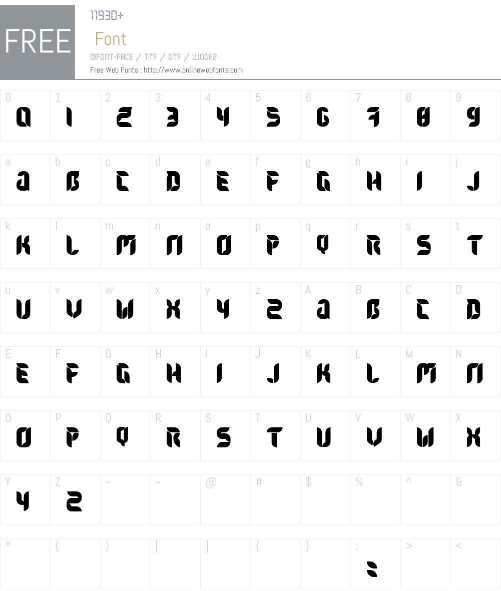 Flora Font Screenshots
