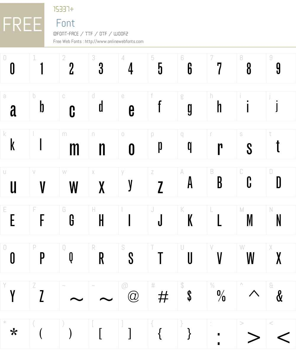 GrotesqueMT-ExtraCondensed Font Screenshots