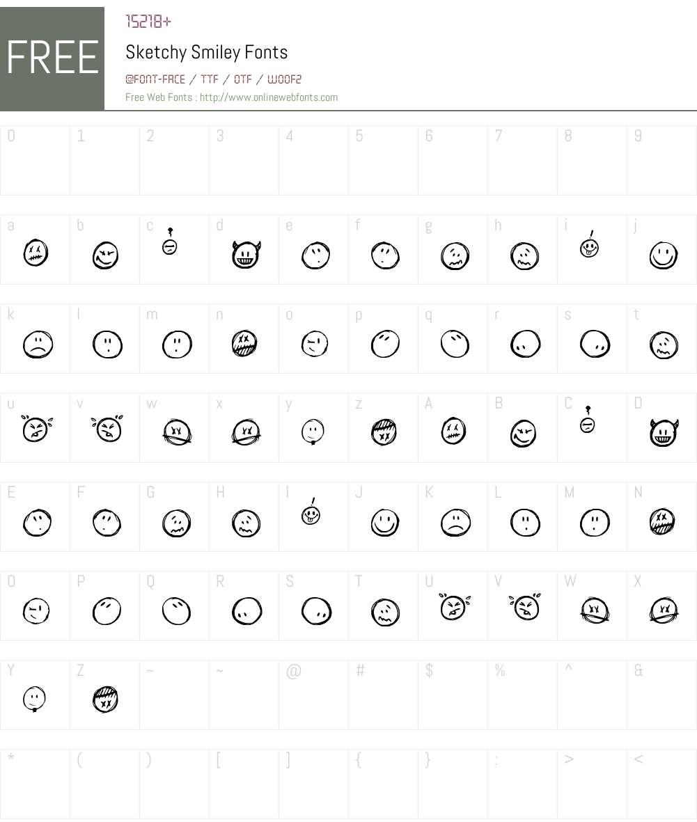 Sketchy Smiley Font Screenshots