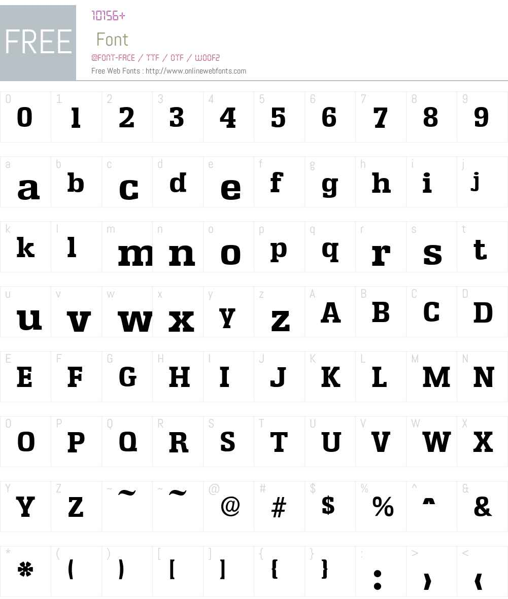 EnschedeSerial-Xbold Font Screenshots