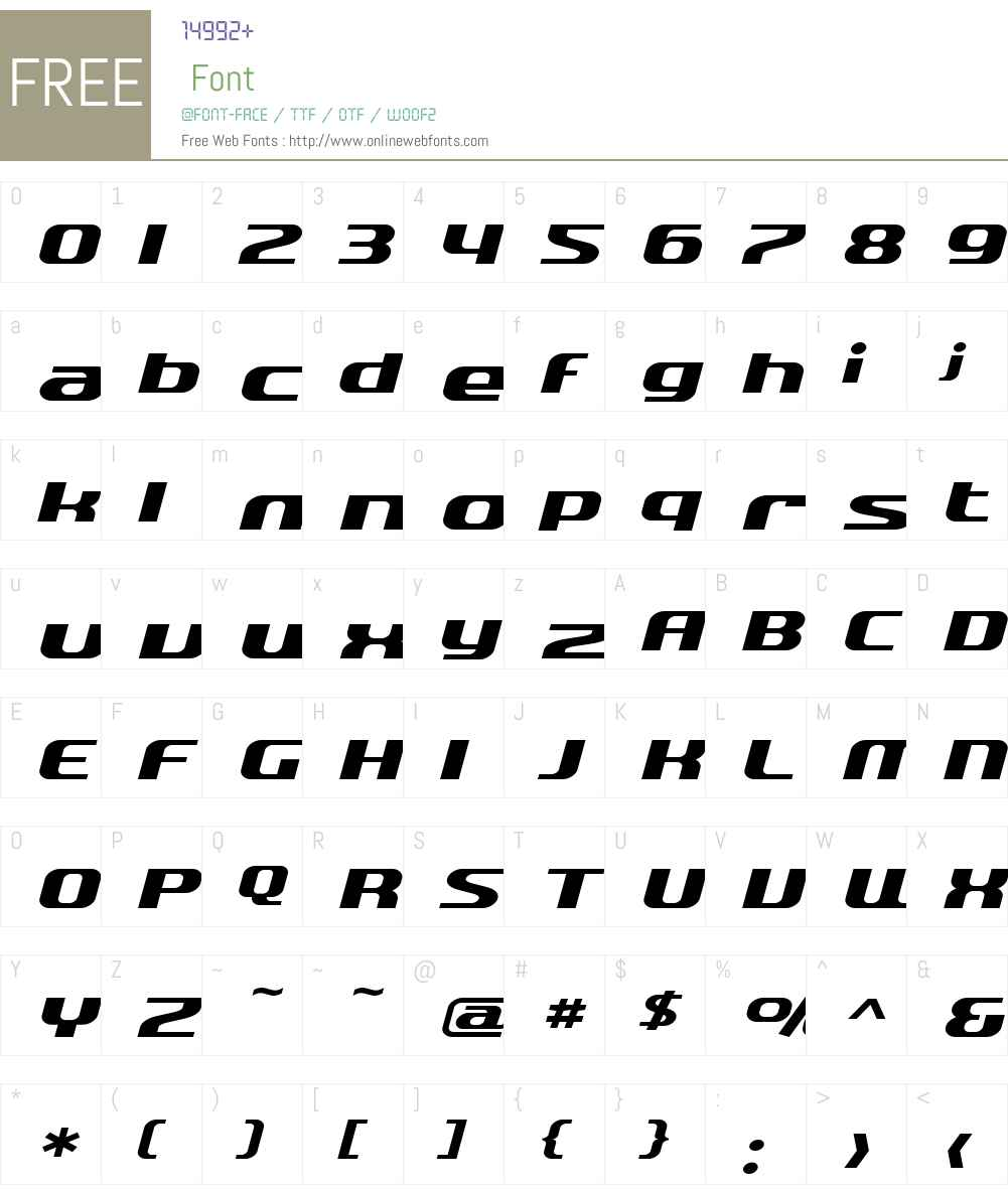 SF Quartzite Extended Font Screenshots