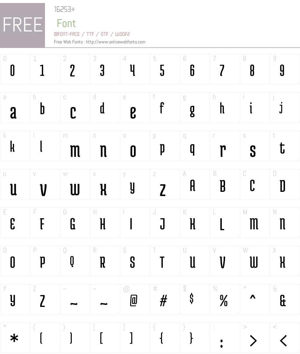Medula One Font Screenshots
