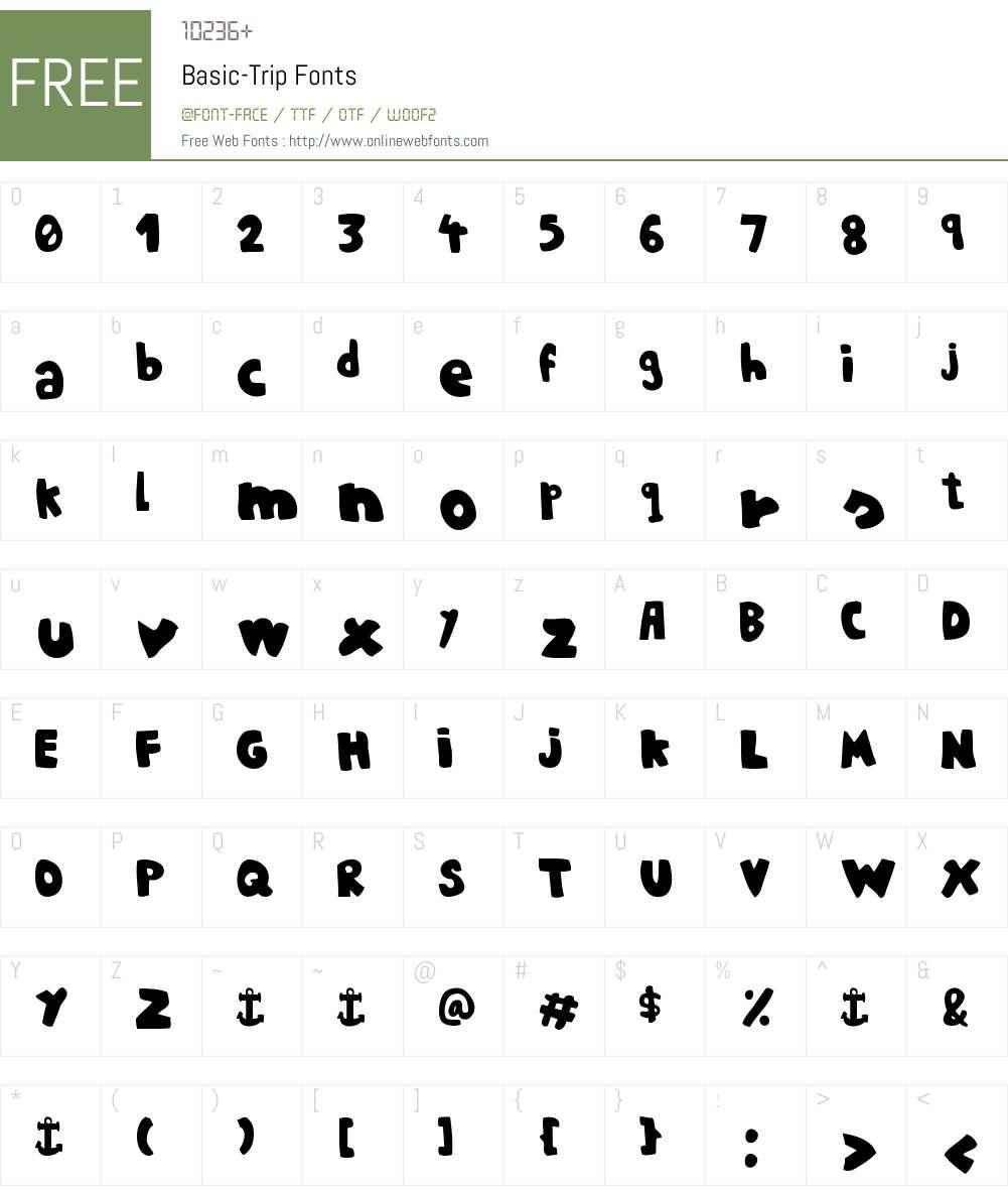 Basic-Trip Font Screenshots