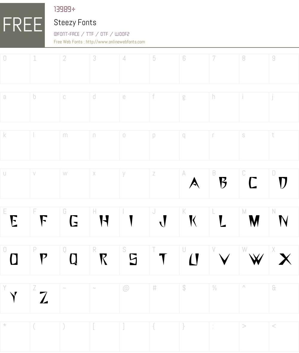 Steezy Font Screenshots