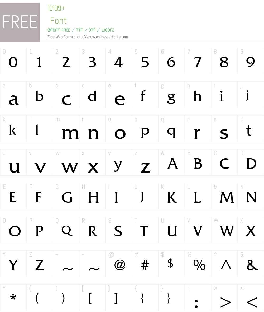 Muster SSi Font Screenshots