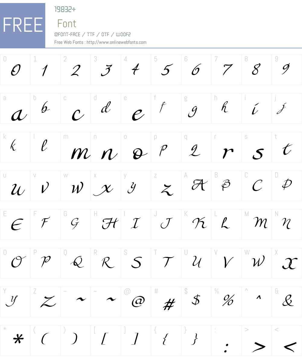 Lorelei Script Font Screenshots