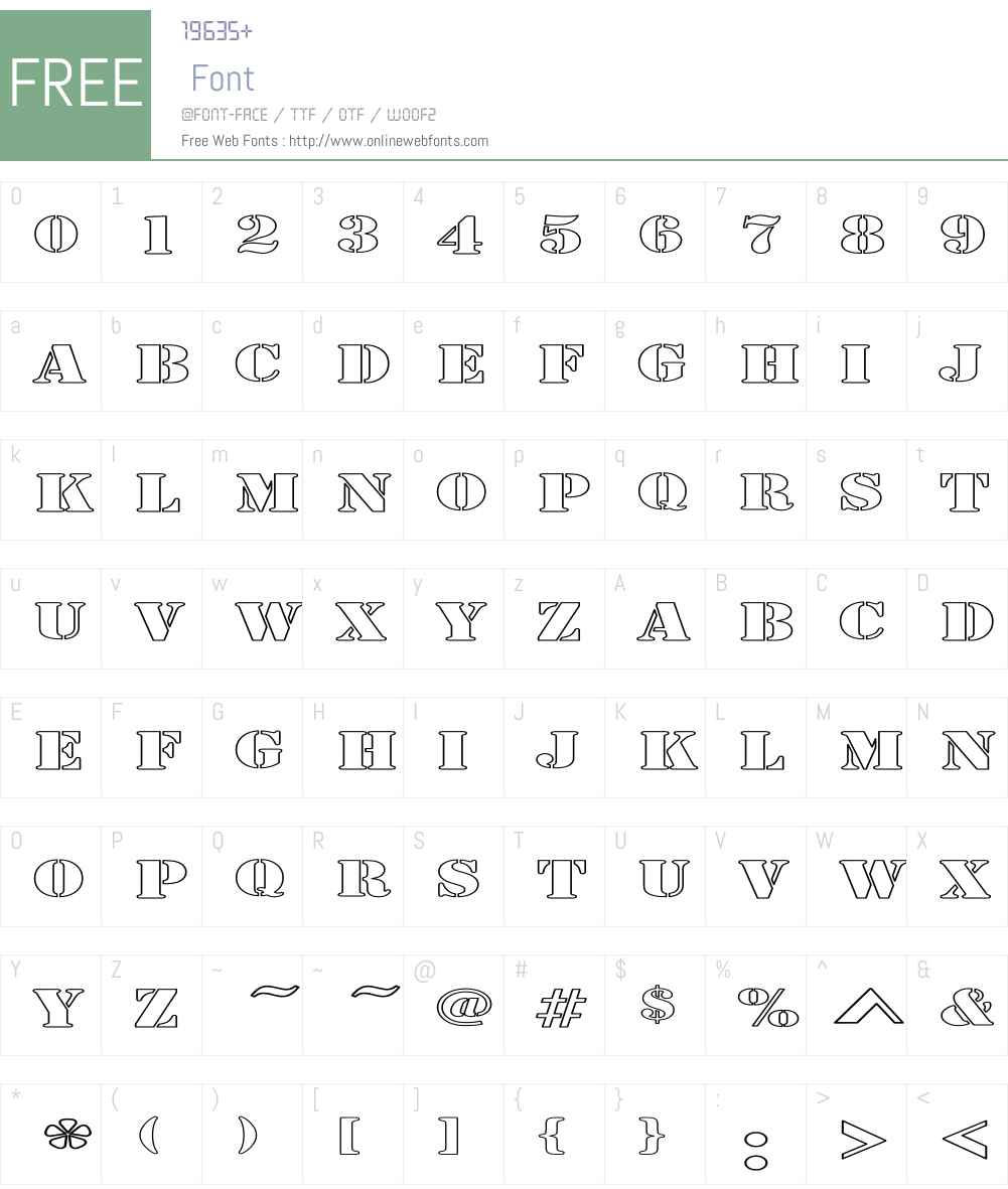 Army Hollow Expanded Font Screenshots