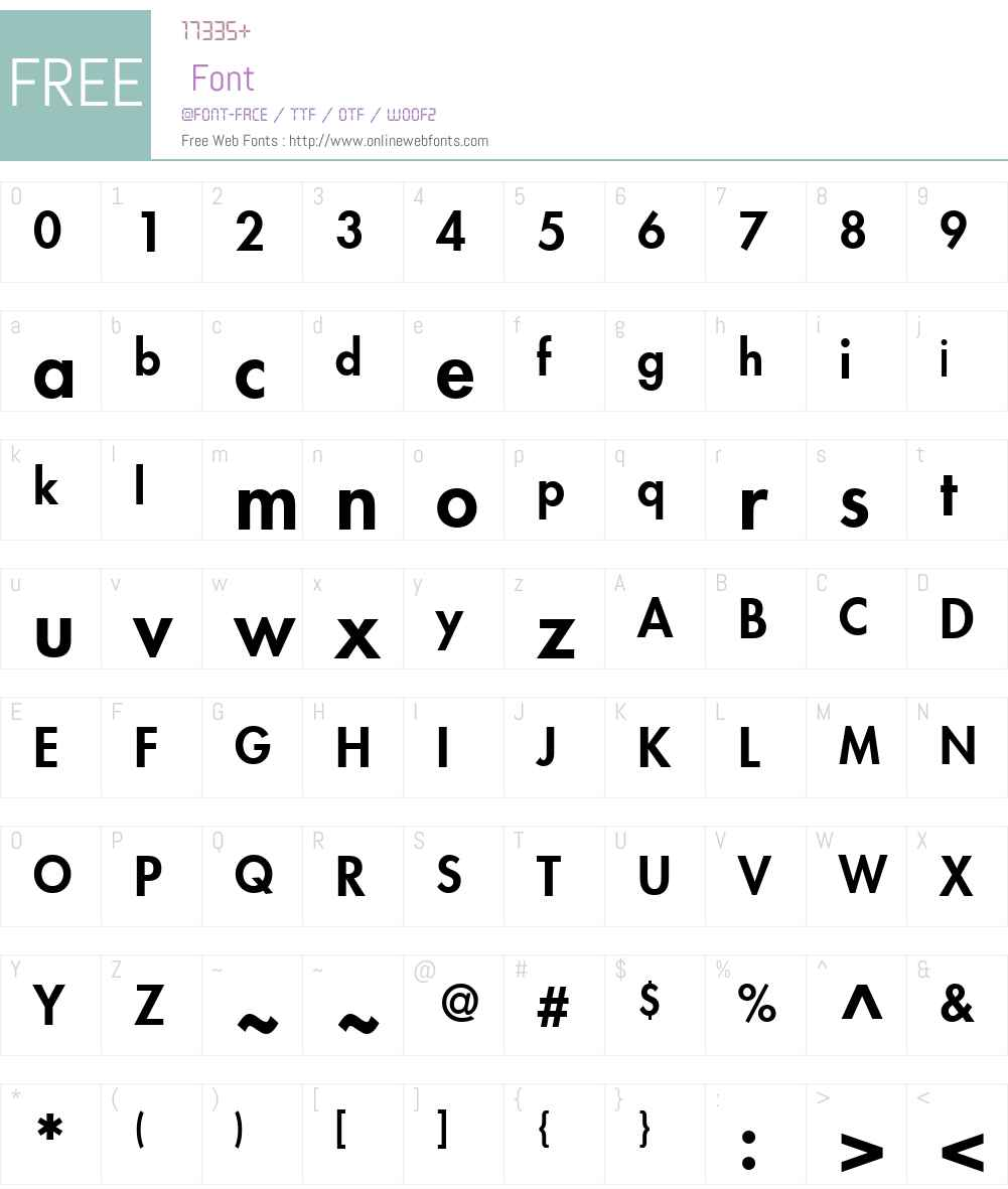 FuturaW01-Heavy Font Screenshots