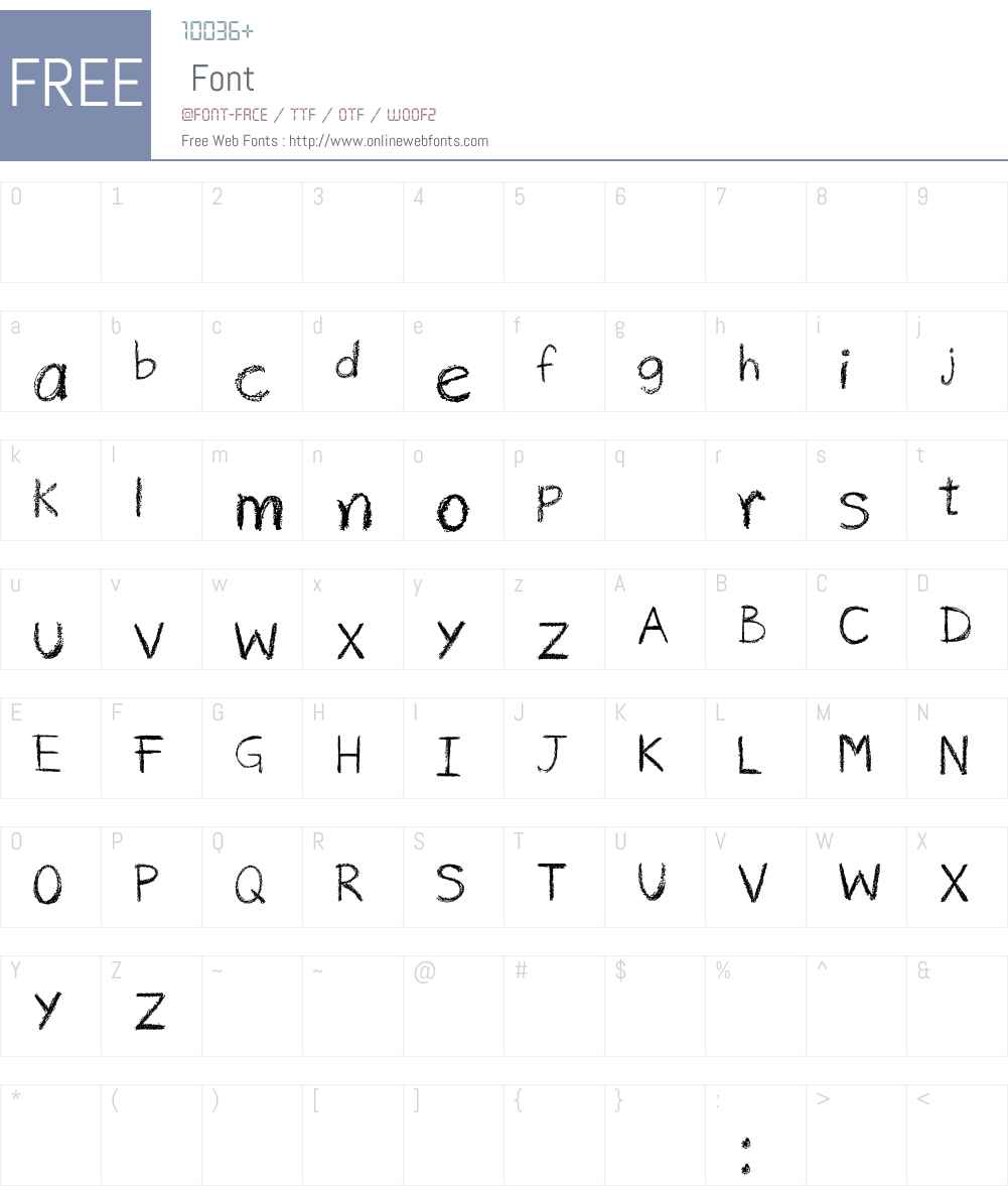 risco rabisco Font Screenshots