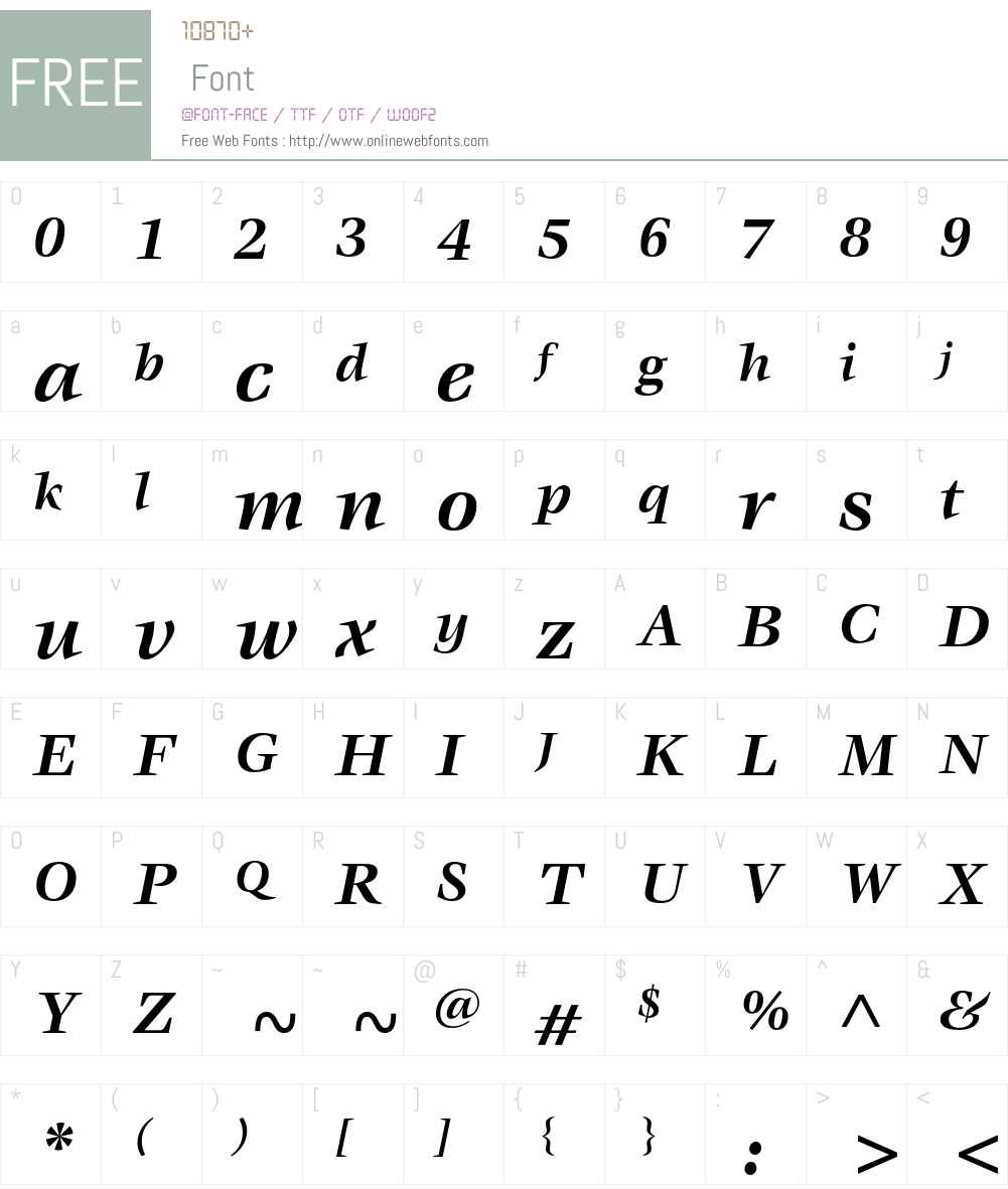 ITC Veljovic Font Screenshots