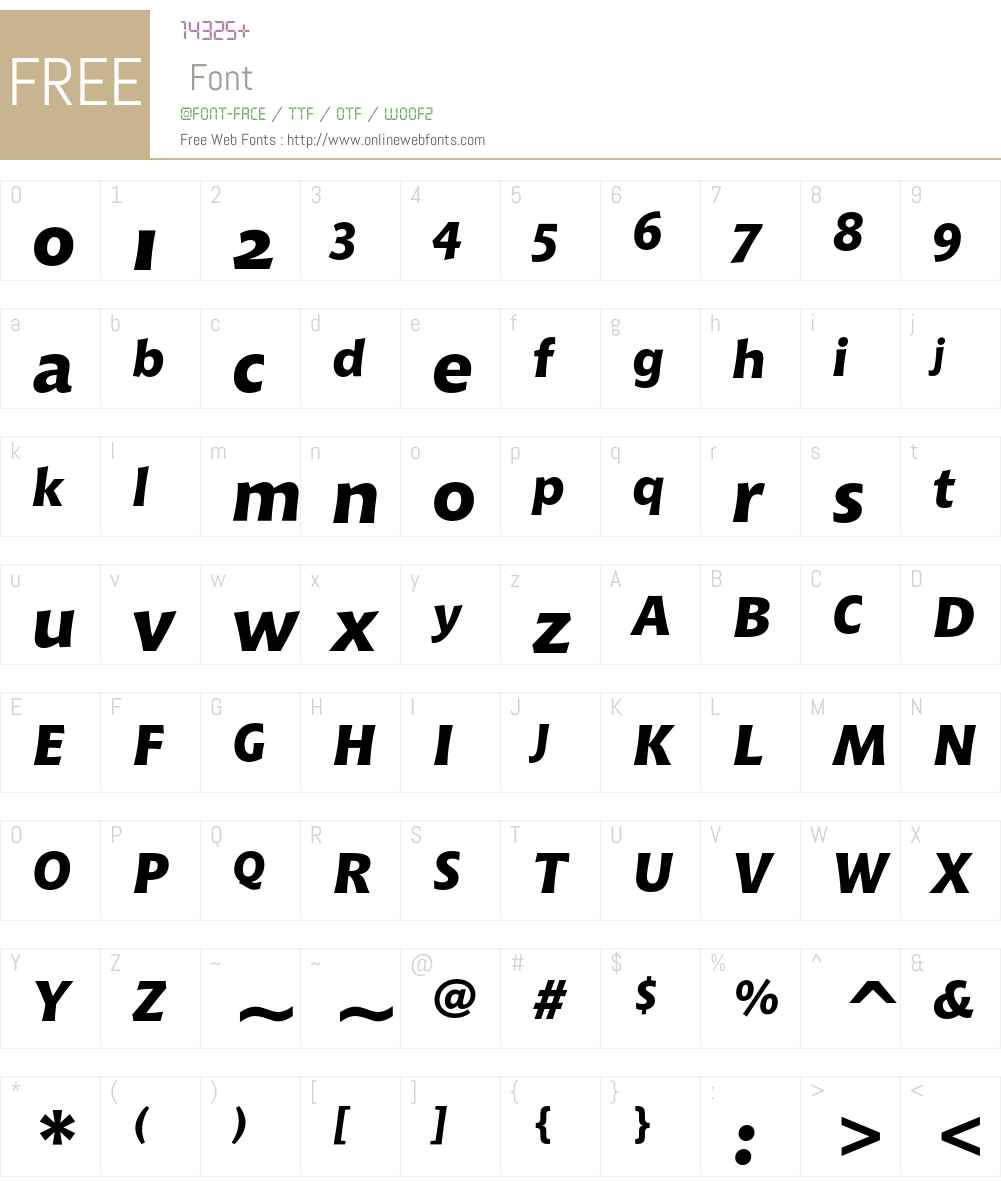 Bitstream Chianti Font Screenshots