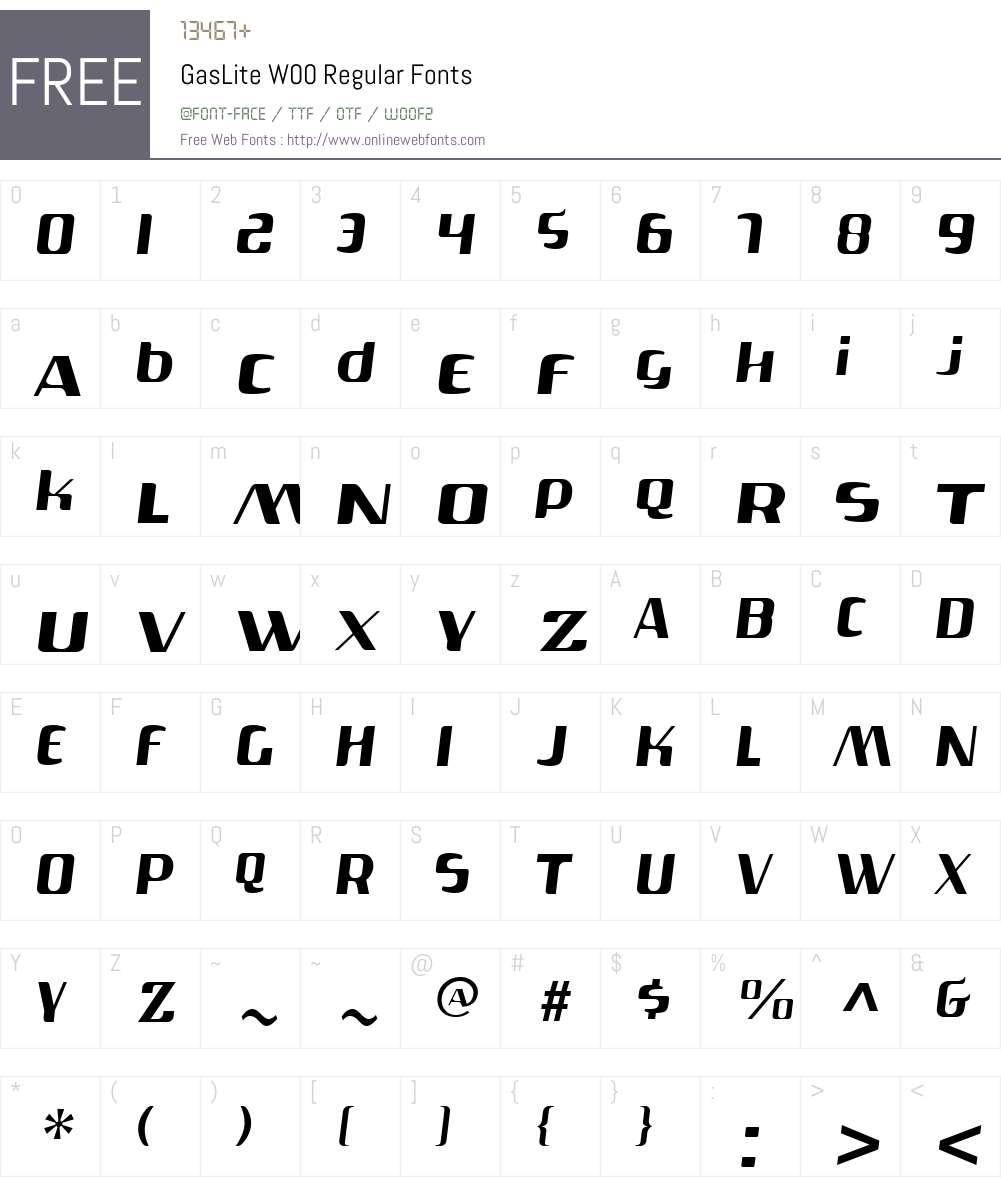 Gas Font Screenshots