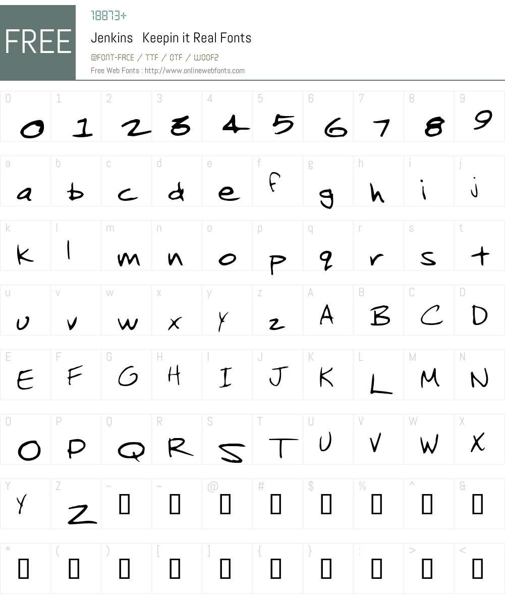 Jenkins Font Screenshots