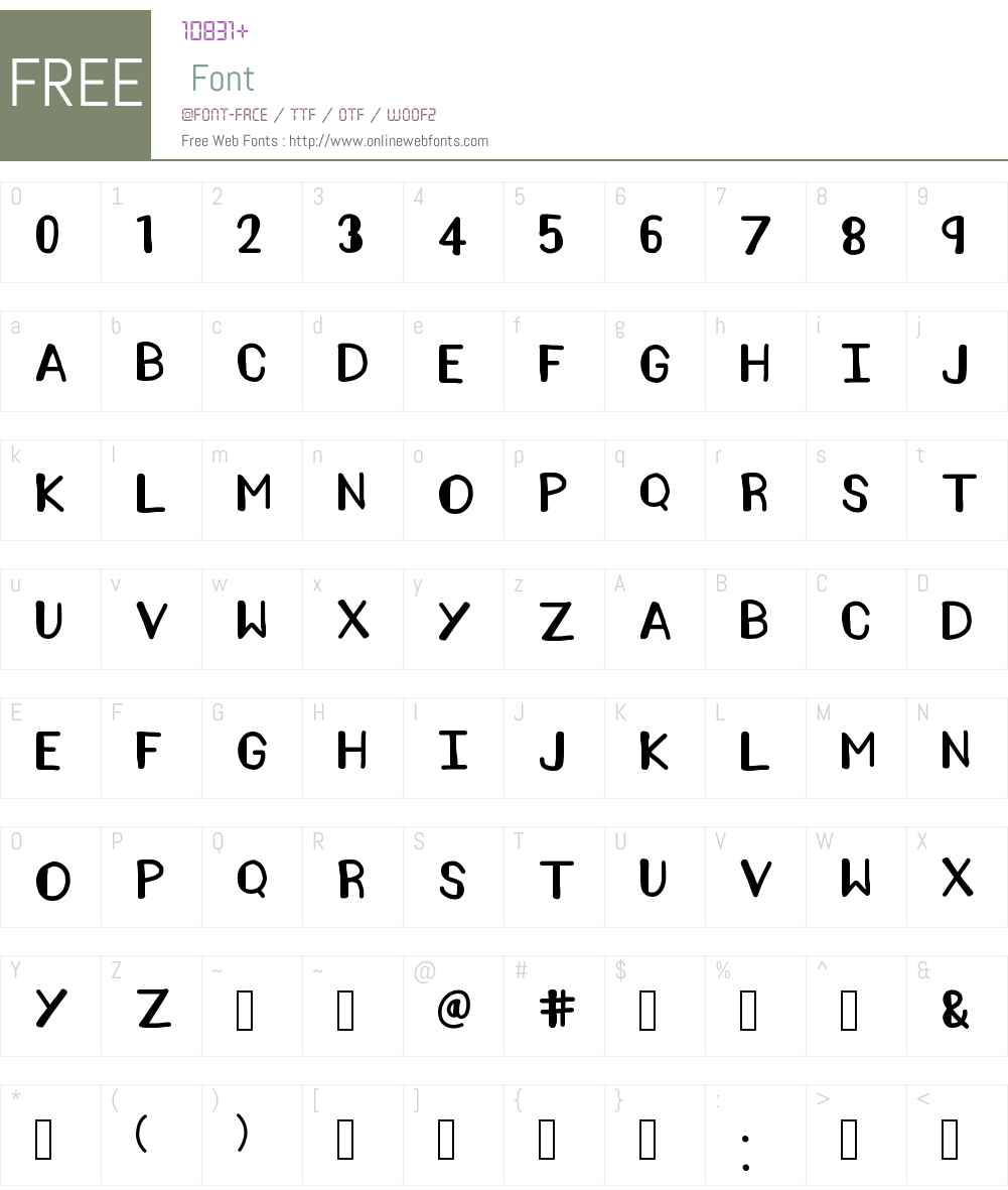 AMELIA POND Font Screenshots