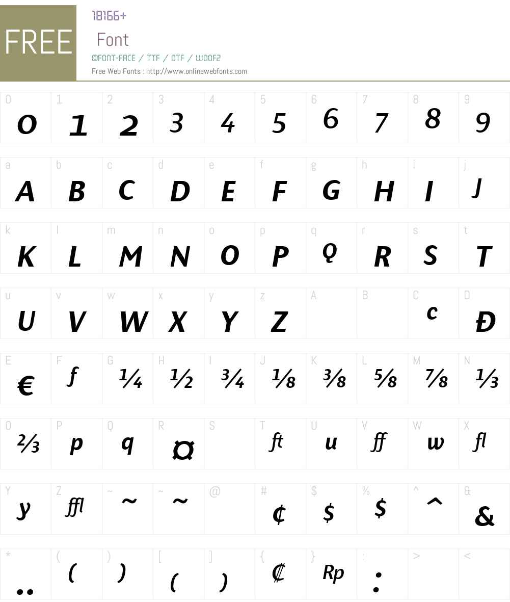 PresenceExpertMediumW90-It Font Screenshots