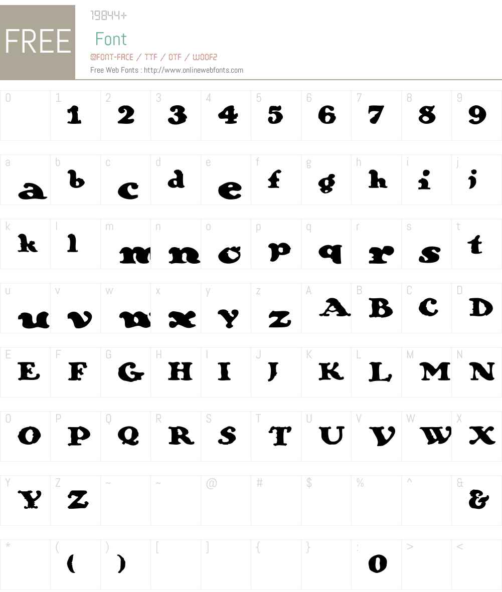 Galleon Font Screenshots